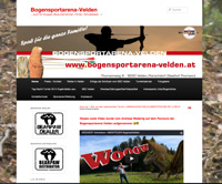 Website von Bogensportarena Velden