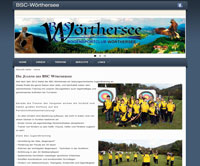 Website Bogensportclub Wörthersee